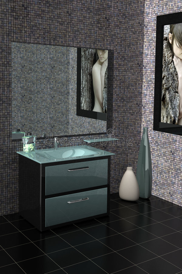 Download Modern bathroom stock photo. Image of black, furniture - 2317222