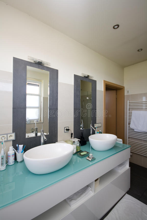 Download Modern bathroom stock image. Image of taps, bath, design - 23924911