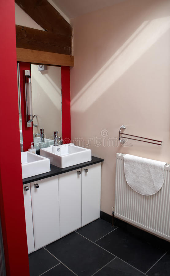 A modern bathroom stock photography