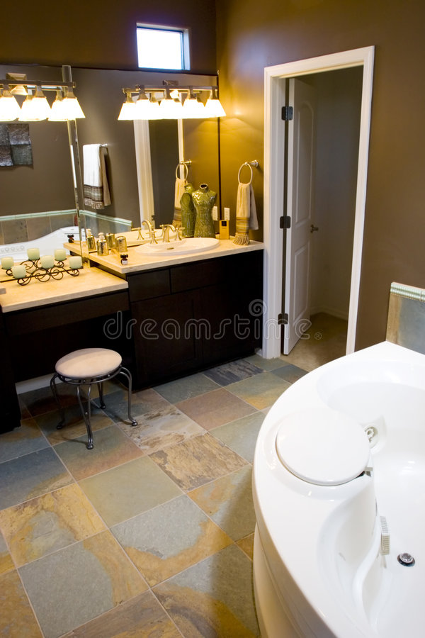 Modern bathroom stock photography