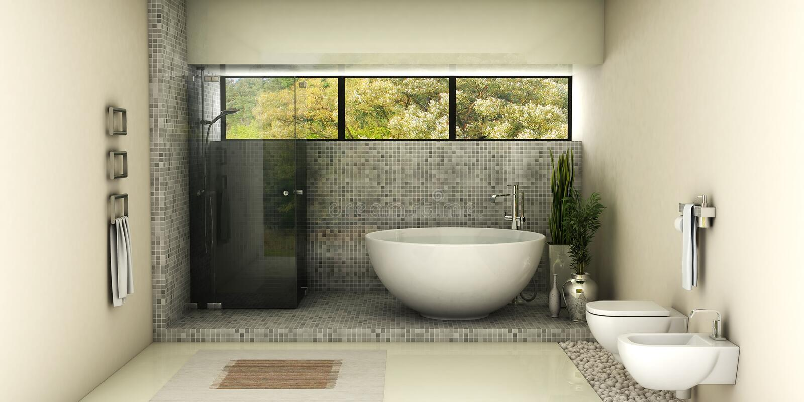 Modern bathroom royalty free illustration