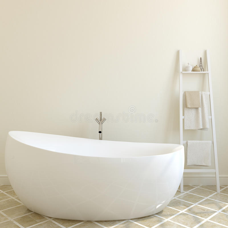 Free Modern Bathroom. 3d Rendering. Stock Photography - 66316062