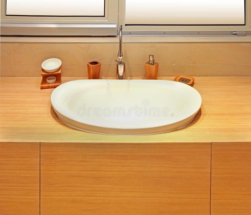Modern bathroom basin royalty free stock photos