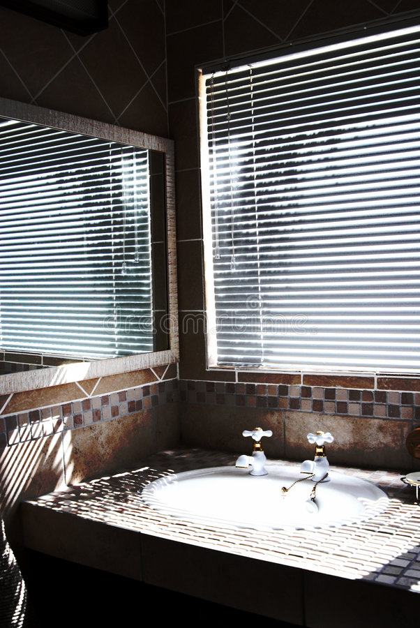 Download Modern Bathroom With Blinds On Stock Image - Image: 2281587