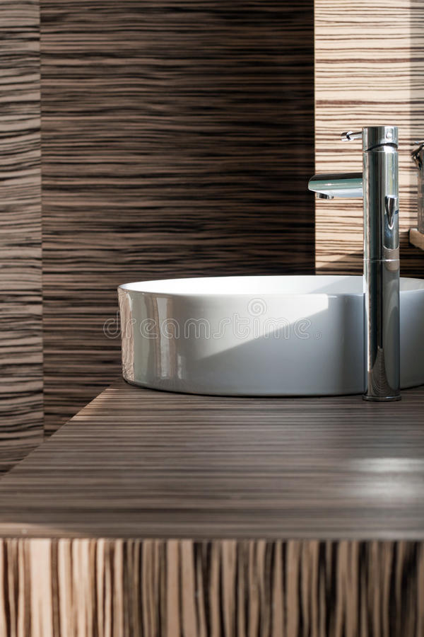 Modern bathroom detail stock image
