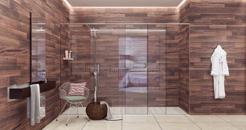 download modern bathroom design 3d rendering stock illustration illustration of carpet vanity 111860710