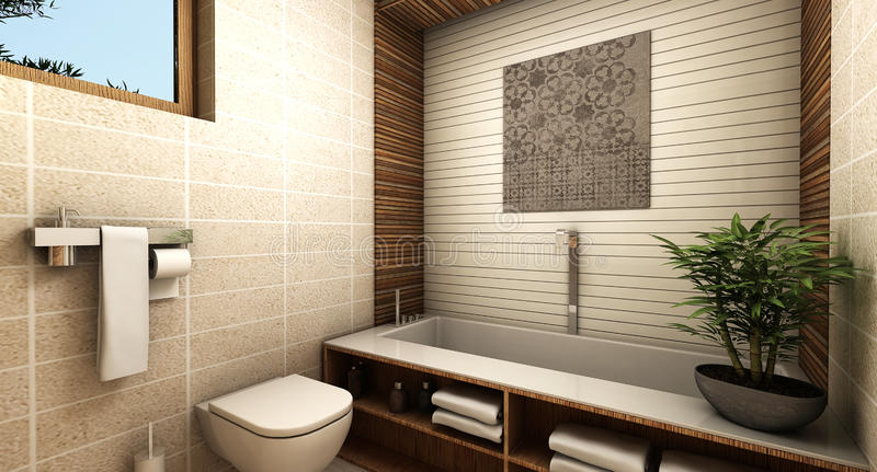 Modern bathroom vector illustration