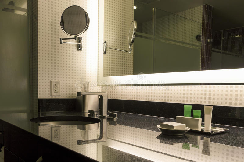 Modern Bathroom Interior. royalty free stock images