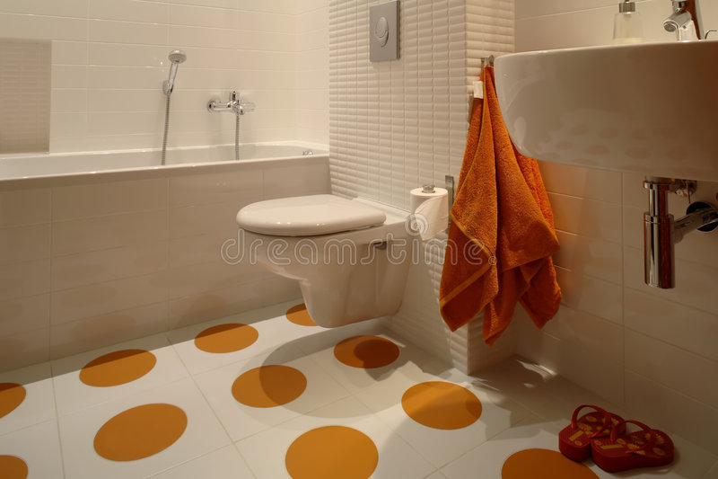 Modern Bathroom For Kids stock image