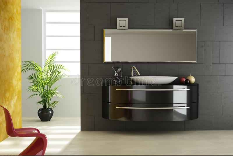 Download Modern bathroom view stock illustration. Image of interior - 22732062