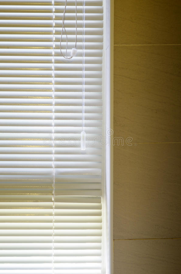 Modern bathroom with White shutters stock photography