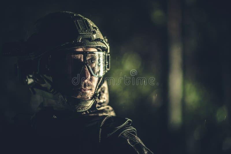 Battle Field Soldier Portrait royalty free stock images