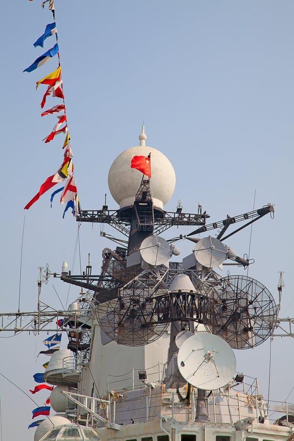 Modern battleship royalty free stock image