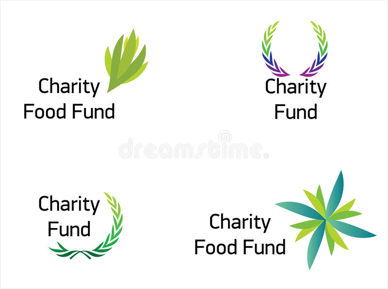 Modern and beautiful charity fund logo. Four illustrated logo for international or local charity fund. Very good for your newly created NGO. Additional vector stock illustration