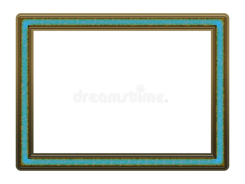 Picture Frame to put your own picture in. Modern and beautiful picture frame design, isolated on white background. File contains clipping path royalty free stock photos