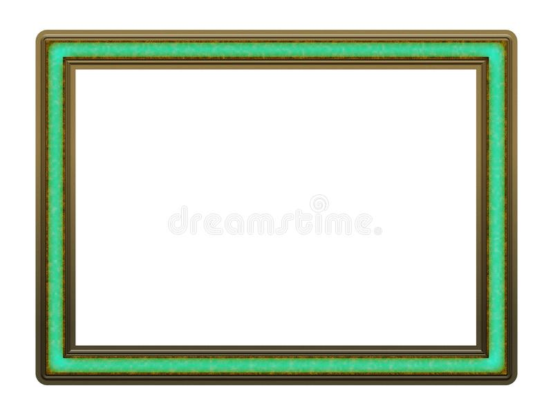 Picture Frame to put your own picture in. Modern and beautiful picture frame design, isolated on white background. File contains clipping path stock photography
