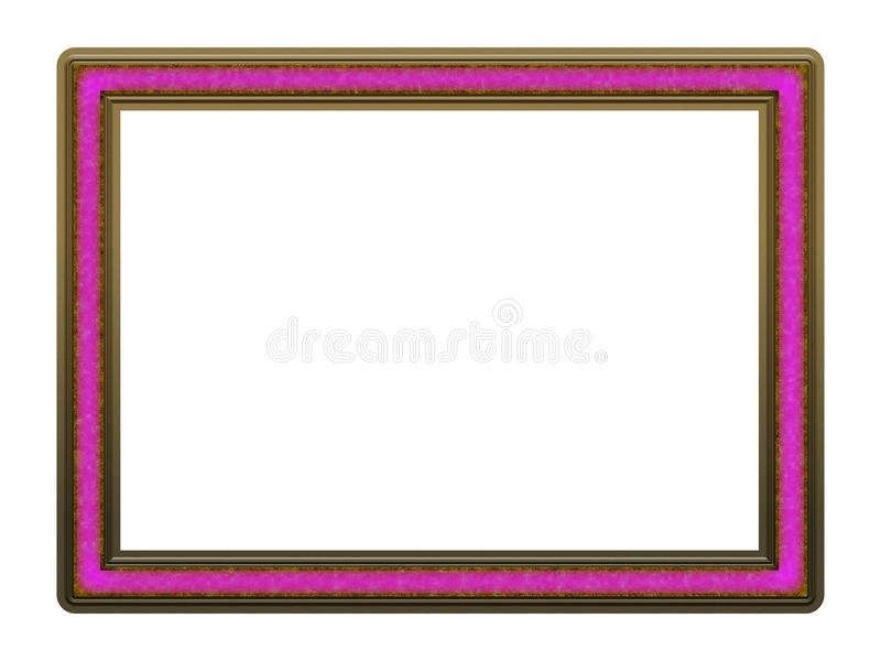 Picture Frame to put your own picture in. Modern and beautiful picture frame design, isolated on white background. File contains clipping path royalty free stock images