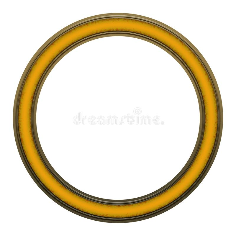 Picture Frame to put your own picture in. Modern and beautiful round picture frame design, isolated on white background. File contains clipping path royalty free stock photography