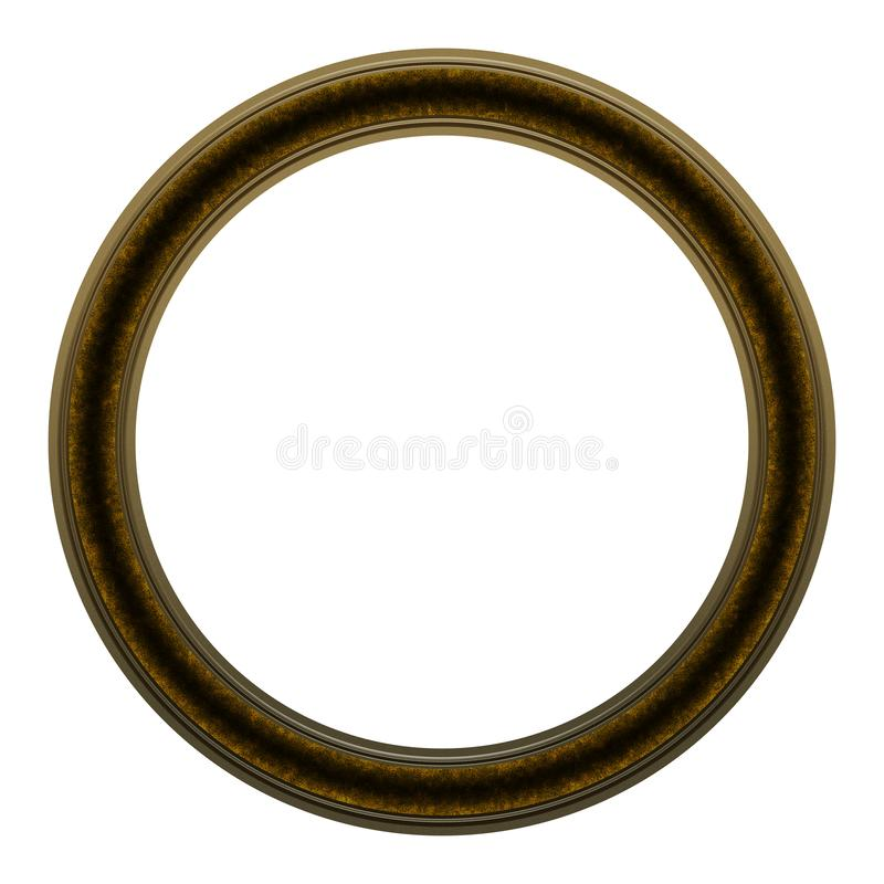 Picture Frame to put your own picture in. Modern and beautiful round picture frame design, isolated on white background. File contains clipping path royalty free stock images