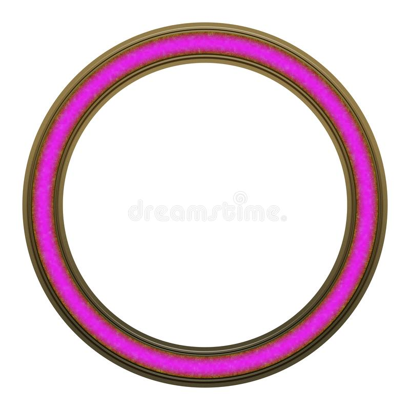 Picture Frame to put your own picture in. Modern and beautiful round picture frame design, isolated on white background. File contains clipping path royalty free stock photo