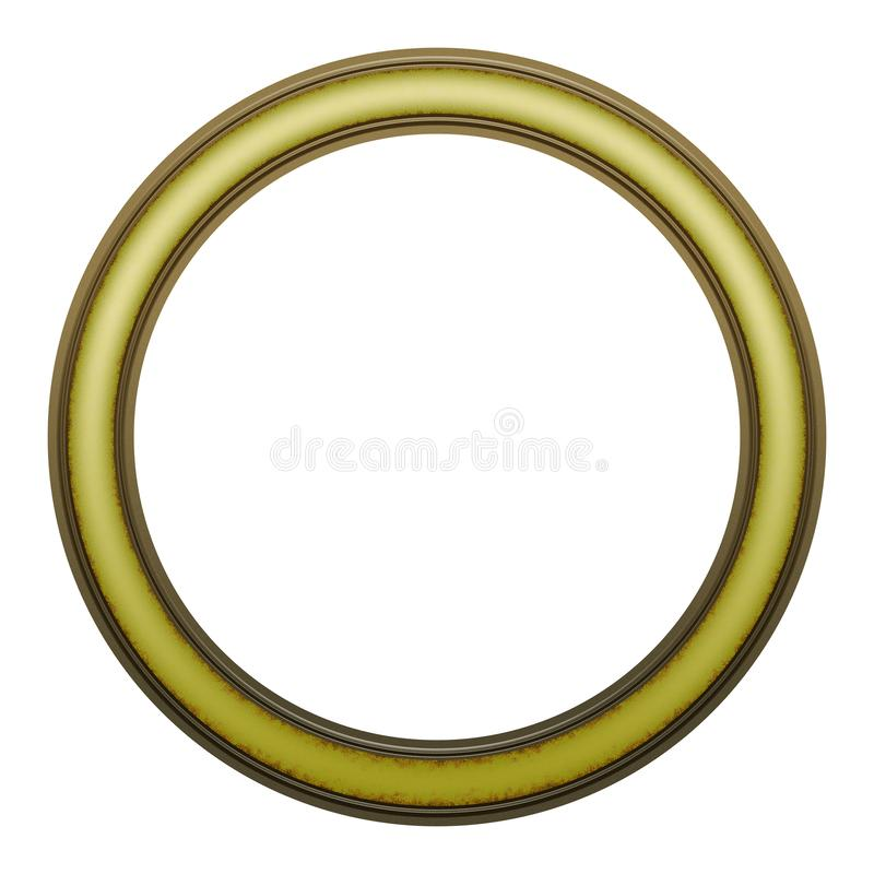 Picture Frame to put your own picture in. Modern and beautiful round picture frame design, isolated on white background. File contains clipping path stock photo