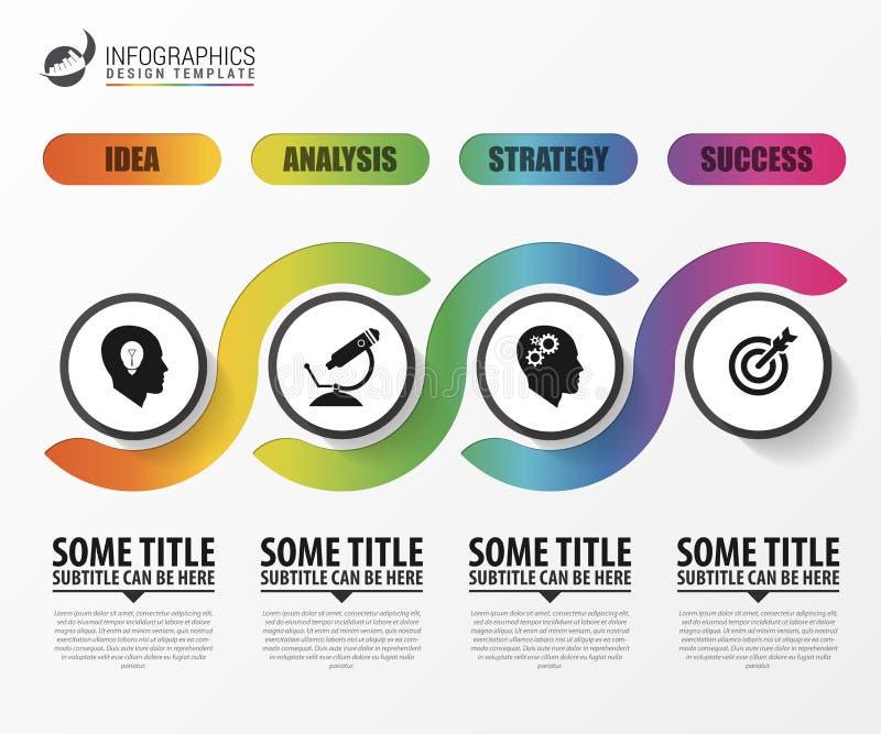 Modern bedrijfs infographic malplaatje Chronologieconcept vector illustratie