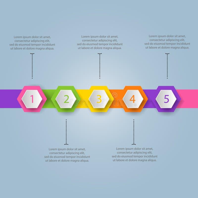 Modern bedrijfsmalplaatje Vector illustratie Kan voor w worden gebruikt royalty-vrije illustratie