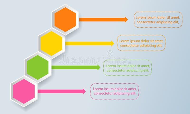Modern bedrijfsmalplaatje Vector illustratie Kan voor w worden gebruikt stock illustratie
