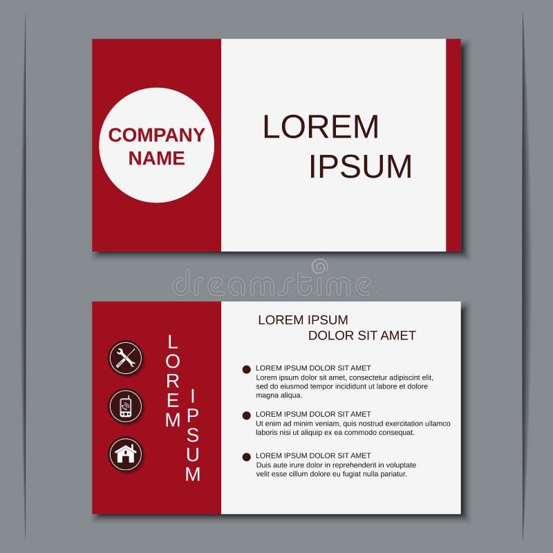 Modern bedrijfsvisitekaartje vectormalplaatje royalty-vrije illustratie