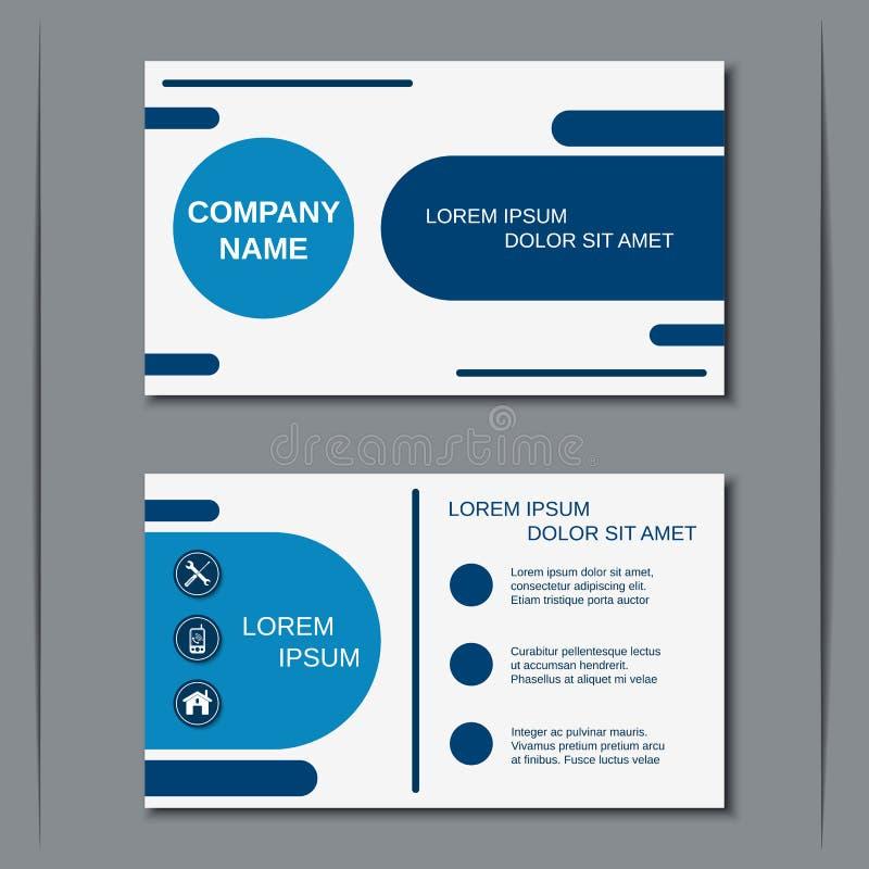 Modern bedrijfsvisitekaartje vectormalplaatje vector illustratie