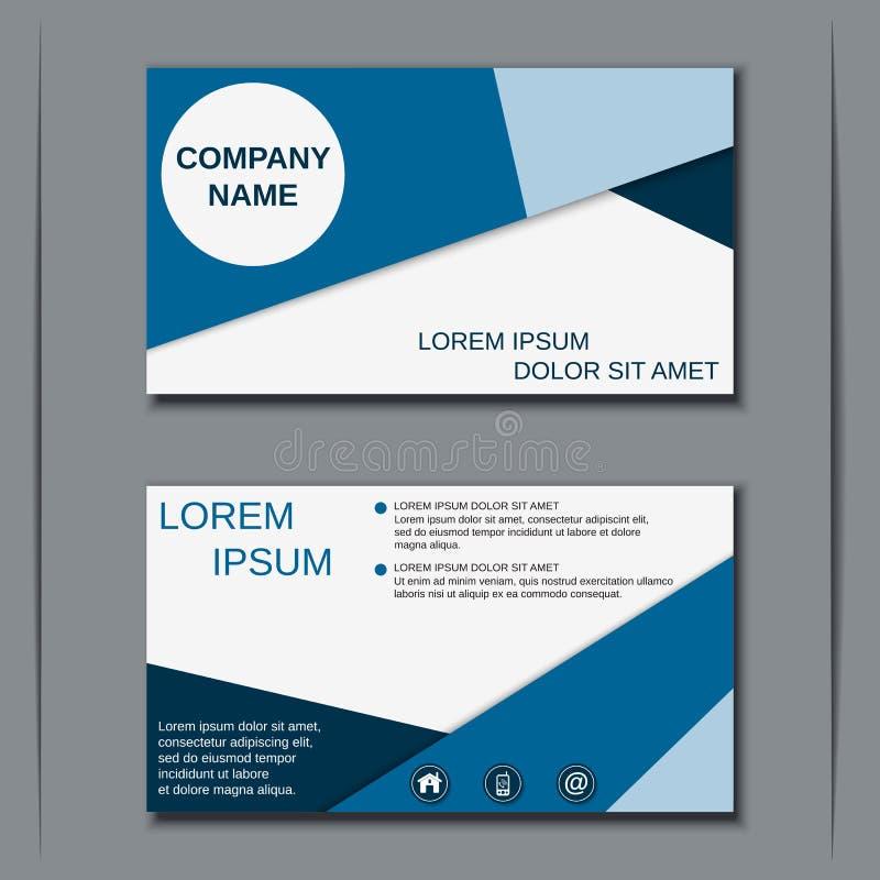 Modern bedrijfsvisitekaartjeontwerp vector illustratie