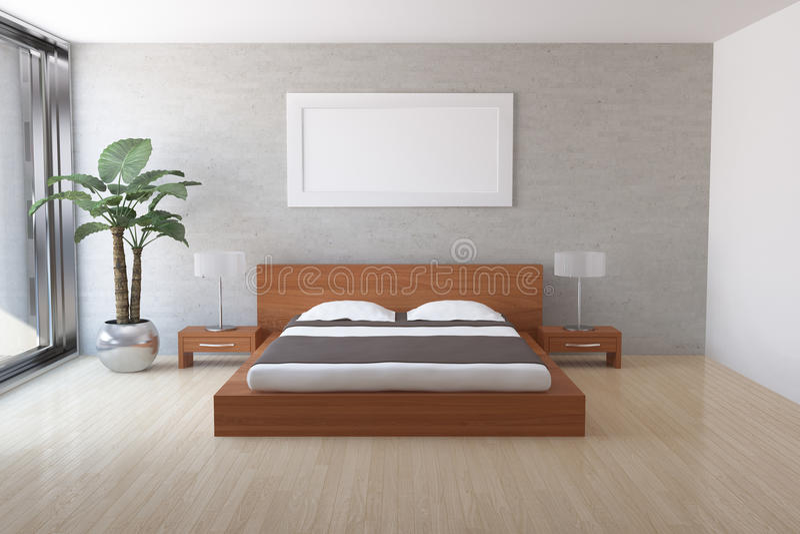 Download Modern bedroom stock illustration. Image of interior - 18933844