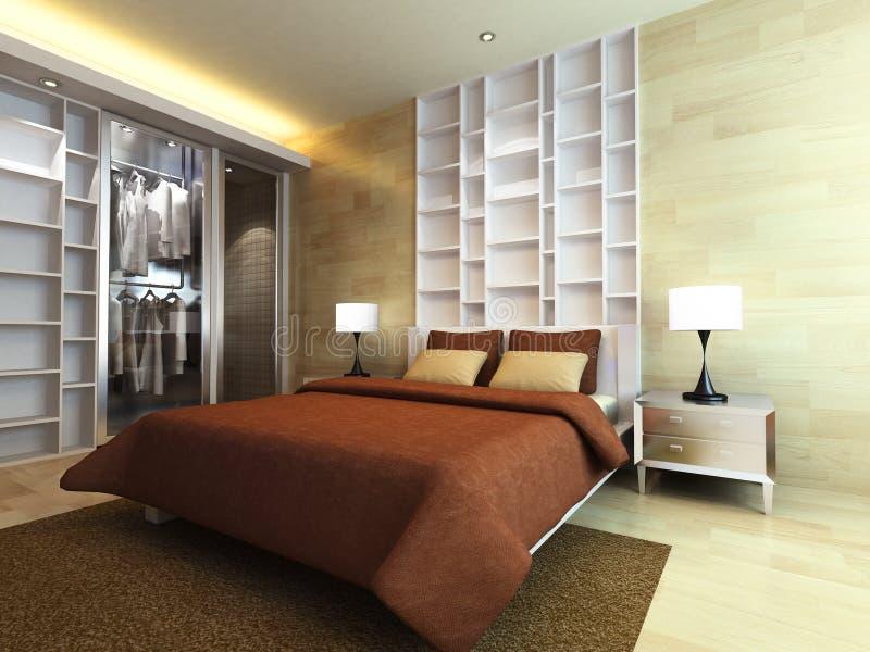Modern bedroom royalty free illustration