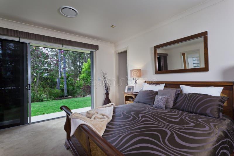 Download Modern bedroom stock image. Image of empty, green, nobody - 25578213