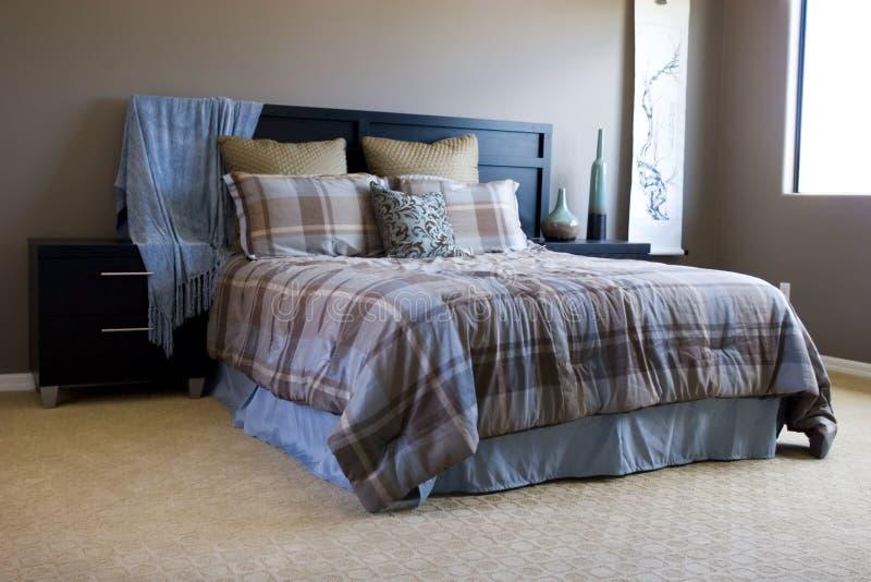 Download Modern bedroom stock image. Image of comforter, expensive - 2803713