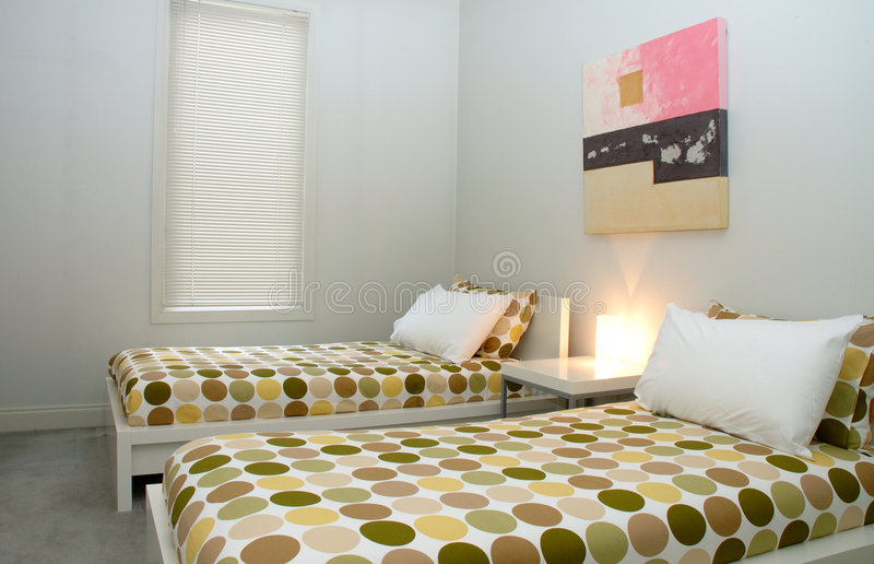 Modern bedroom royalty free stock photography