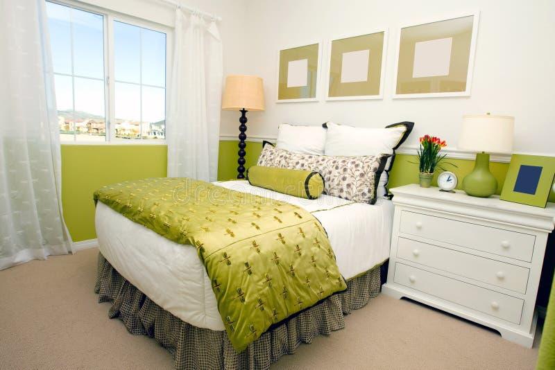 Download Modern bedroom stock photo. Image of beautiful, nightstand - 7770426