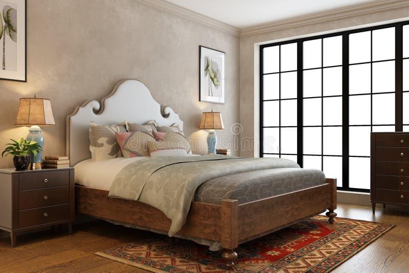 A Modern Bedroom royalty free illustration