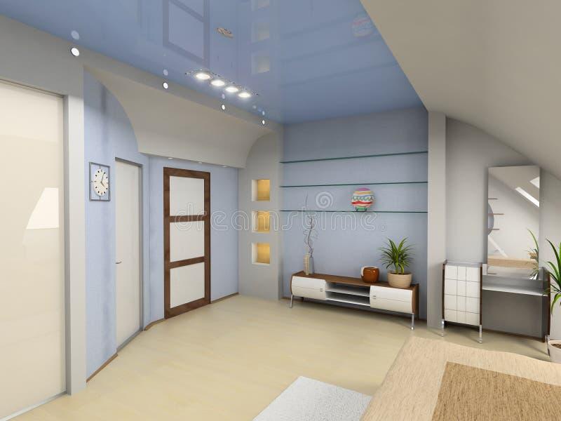 Modern bedroom interior stock images