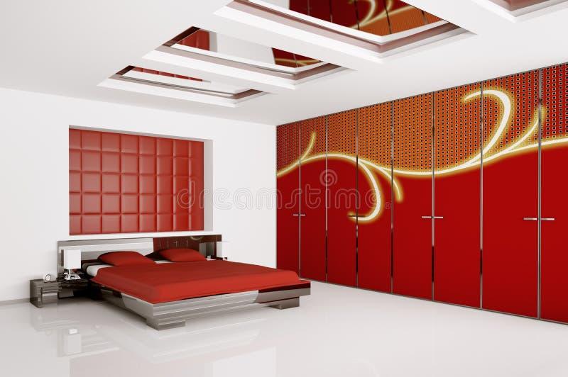 Modern Bedroom Interior 3d Render Stock Illustration - Illustration ...