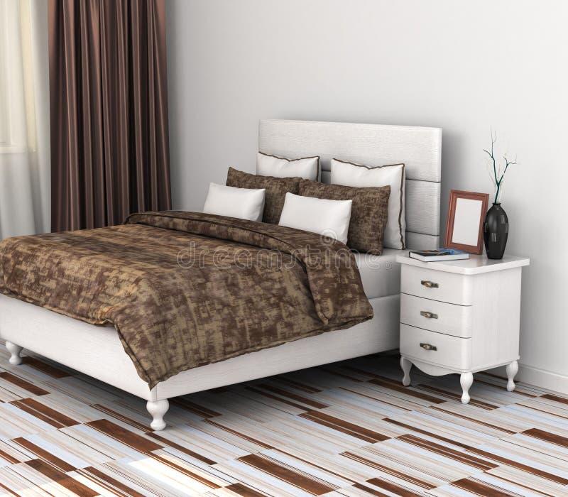 Modern bedroom. stock illustration
