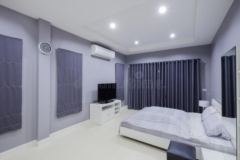 Modern bedroom interior. In home stock photos