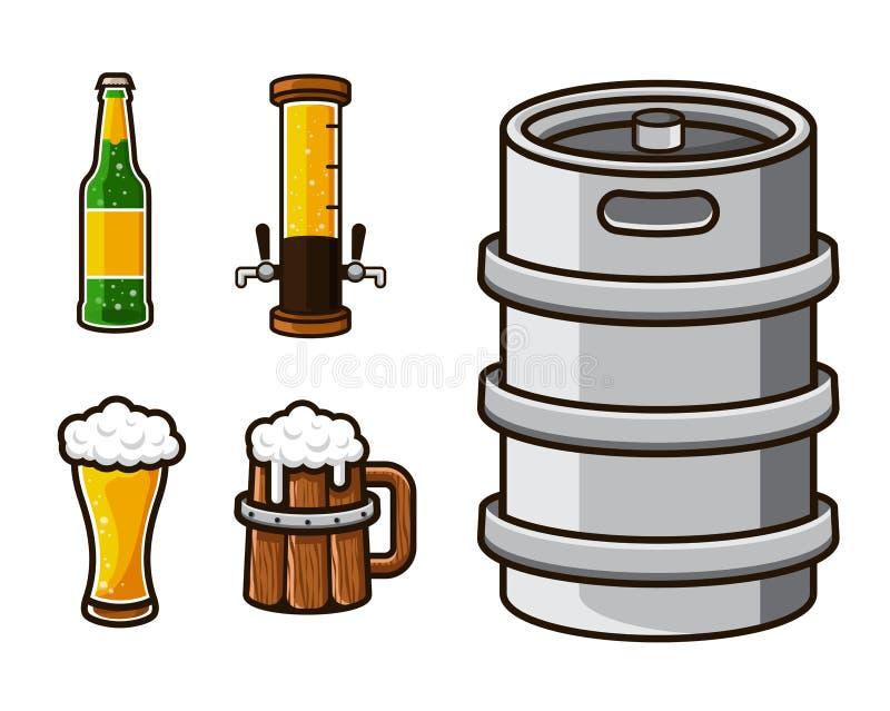 Modern Beer Graphic Asset Illustration Set. Modern Beer Graphic Asset Illustration Suitable for Logo, Card, Game Asset, Bar Menu, And Other Beer Related royalty free illustration
