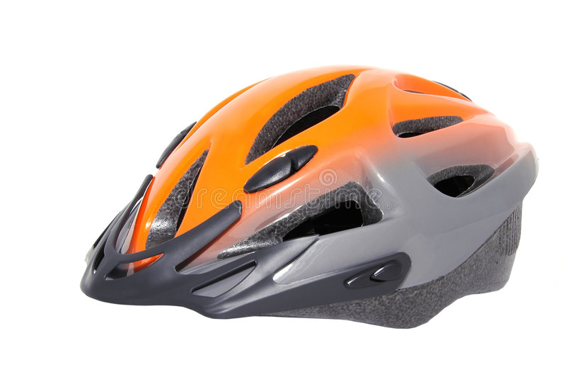 Modern Bicycle Helmet. Bicycle Helmet isolated on white royalty free stock images