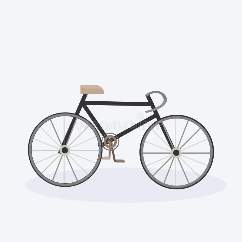 Modern bicycle stylish cartoon bike white background flat vector illustration