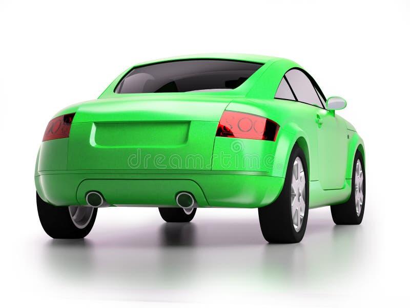 Modern Bight Green Car Back View Stock Photography