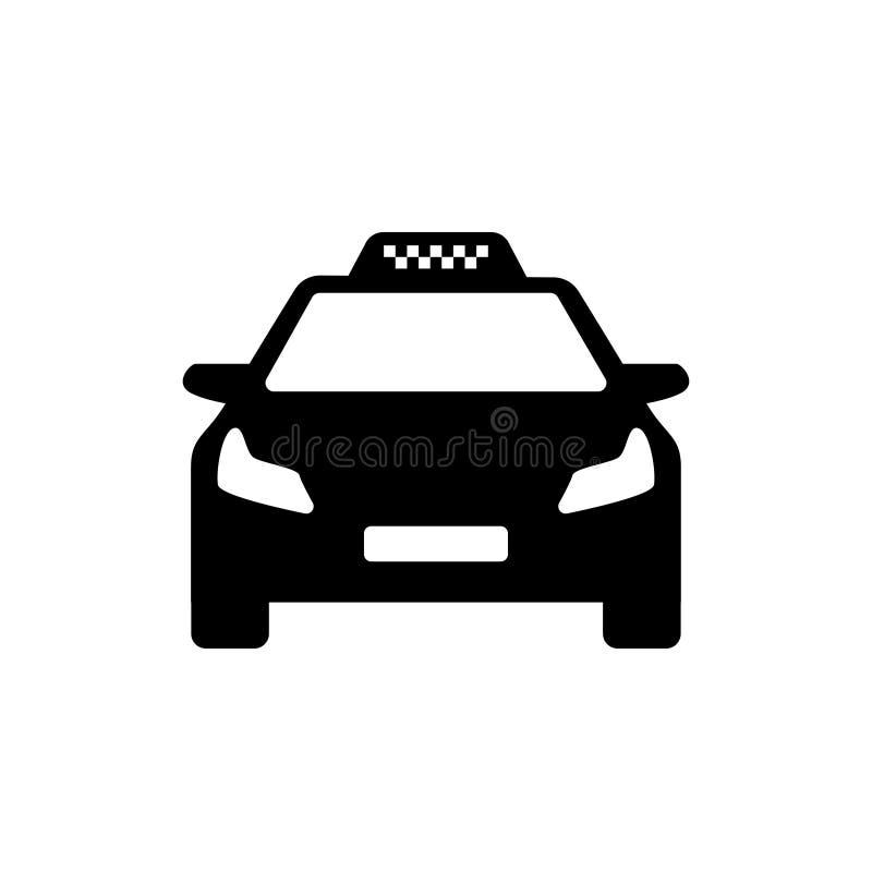 Modern bil för svartvit taxilogo vektor illustrationer