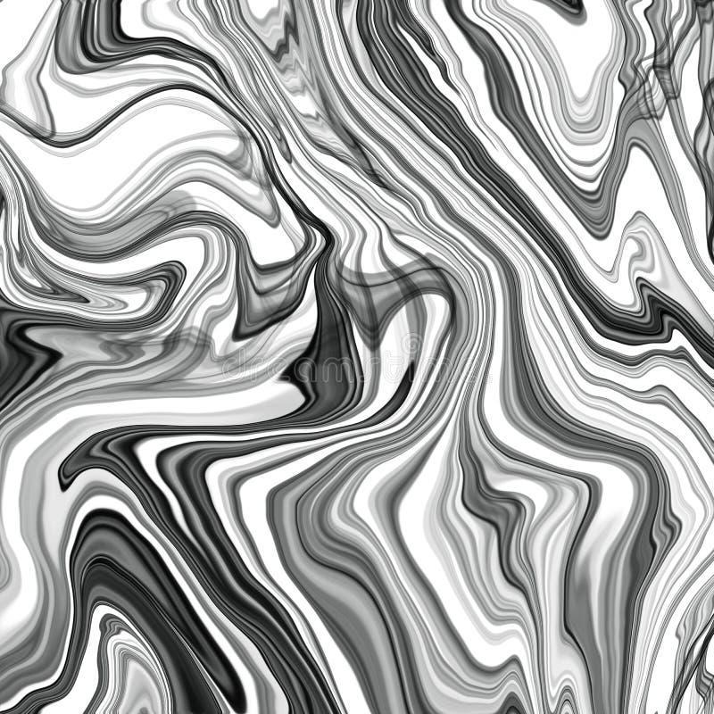 Modern bild av kreativ stil med bakgrund av alkoholtryckfärgskonst Grafisk design Moderna konstnärliga mönster Färglös textur stock illustrationer