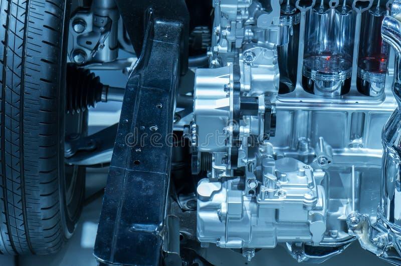 Download Modern bilmotor fotografering för bildbyråer. Bild av maskin - 76701331