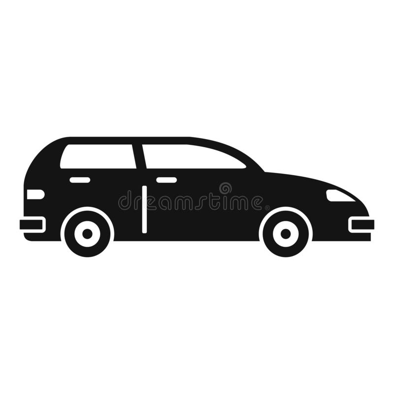 Modern bilsymbol, enkel stil royaltyfri illustrationer